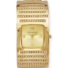 Sofia by Sofia Vergara Women s Watch Gold Sequin Glitz Bangle - M Z