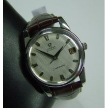 Vintage 60's Omega Seamaster Unusual Silver Dial Date Auto Man's