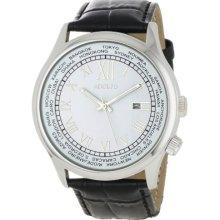 Adolfo Mens 31006c World Timer Calendar Watch