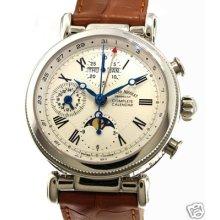 Armand Nicolet Men's Arc Royal Calendar & Chronograph 9429a-ag-p473gd2