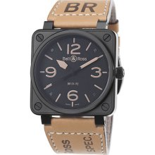 Bell And Ross Heritage Men's Automatic Black Rubber Watch Br0192-bl-heritage