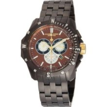 Chase-durer Men's 850.4cgm Crossfire Gunmetal Ion-plated Stainless Steel Watch