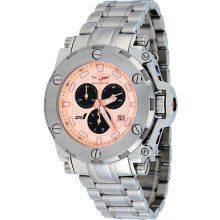 Corvette Cr220-m Men's Zr1 Collection Peach Dial Swiss Chronograph Watch