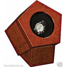 Don Salvatore Watch Winder For Automatic Mechanicals Cambodian Rosewood Finish