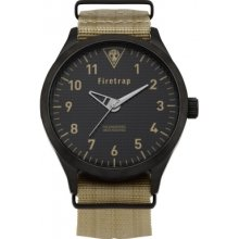 Firetrap Ft1066i Mens Ivory Canvas Strap Watch