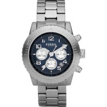 Fossil Mens Watch Ch2627 With Blue Multi Dial And Stainless Steel Bracelet