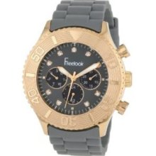 Freelook Mens HA5046RG-7 Grey Chrono Rose-Gold Bezel Grey Dial