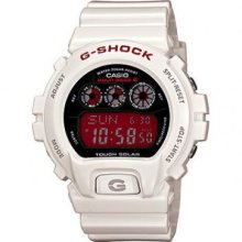 G-shock Multi-band Atomic Watch Solar White Gshock Gw6900f Red Dial Gw6900f-7