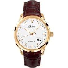 Glashutte Senator Panorama Date Pink Gold Watch 100-03-11-01-04
