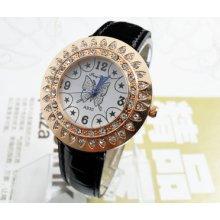 Gorgeous Casual Black Butterfly Women's Dial Quartz Wrist Watches Hour Clock