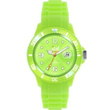 Ice Unisex Quartz Watch With Green Dial Analogue Display And Green Silicone Strap Ss.Ag.U.S