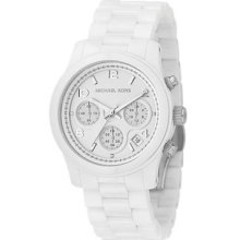 Michael Kors White Dial With White Ceramic Bracelet Womens Watch Mk5161