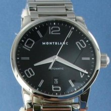 Montblanc Timewalker 105962 Black Dial Automatic Steel Watch $3340