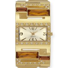 Sofia by Sofia Vergara Ladies Crystal Accent Gold Dial with Gold Tone