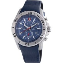 Swiss Military Hanowa Men's Marine Officer Chronograph Blue Dial Watch 06-4148-0