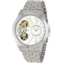 Adolfo Mens 31020c Exhibition Back Auto Quartz Watch