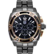 Andrew Marc Watch, Mens Chronograph Giii Bomber Black Ion-Plated Stain
