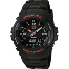 Casio Gshock Men's Shock Resistant Analog Solar Power Watch G100-1b G-shock