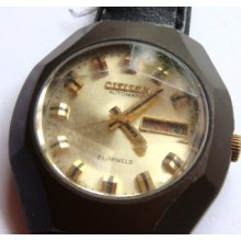 Citizen 21 Jewels Automatic 4-652538 For Parts Or Repair Serial Number..60600524
