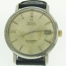 Classic Omega Seamaster De Ville Automatic Mens Stainless Steel Watch W/ Date