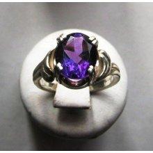 Deep Amethyst Ring in Sterling Silver