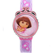 Dora The Explorer Kids Round Interchangeable Digital Lcd Watch