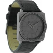 Firetrap Ladies Watch, Dark Grey Leather Strap, Bgs038