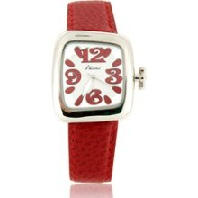 IZIMI HA977 Cartoon Leather Band Women/Kids Quartz Wrist Watch (Red)