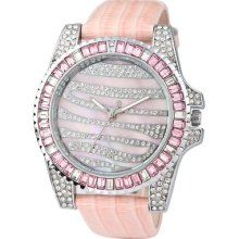 Luxury Diamond Dial Leather Band Ladies Watches Fashion Design Hour 71069