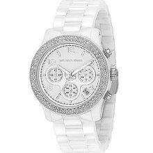 Michael Kors Runway Ceramic Chronograph Sports Watch - White