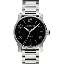 Mont Blanc Mens 09672 TimeWalker Large Automatic Steel Bracelet Watch