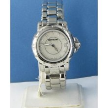 Montblanc 101653 Sport Collection White Mop Diamond Dial Steel Lds Watch $2685