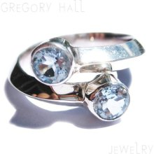 14k White Gold Blue Topaz Gemstone Wedding Band Bands Engagement Ring Rings Jewelry Jewellery SSR-153