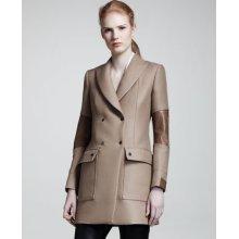 Belstaff Andover Leather-Panel Coat