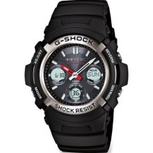 Casio GShock Awgm1001Acr Atomic Solar Watch, Black/Silver