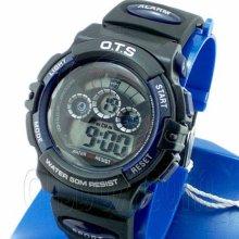 Digital Sports Ladies' Kids' Watch (833) (blue & Black) #51518