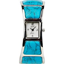 Eton Women's Quartz Watch With White Dial Analogue Display And Blue Cuff 2907L-Tq