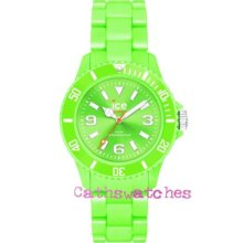 Genuine Ice-watch Ice-solid Green Unisex 43mm Sd.gn.u.p Solid Polyamide Bracelet