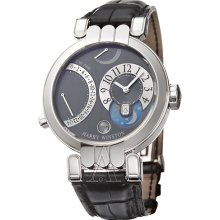 Harry Winston Men's Premier Excenter Timezone Watch 200-MMTZ39WL-A