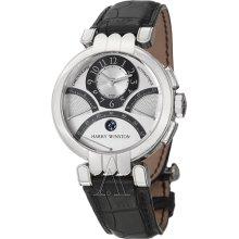Harry Winston Men's Premier Excenter Triple Retrograde Chronograph Watch 200-MCRA39WL-W
