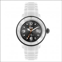 Ice-watch Si.wk.b.s.12 Mens Ice-white Black Watch Rrp £85