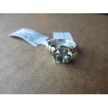John Hardy Ring Bedeg Sterling Silver Band Batu Round 10mm Green Amethyst 7