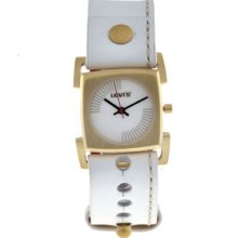 L010GIGWRW Levis Ladies White Leather Strap With White Dial Watch