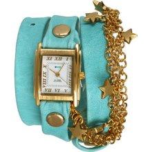 La Mer Gold Star Charm Wrap Analog Watches : One Size