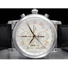 Montblanc watch Star Chronograph GMT NEW 36967 stainless steel watch