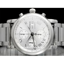 Montblanc watch Star XL Chronograph GMT NEW 036067 stainless steel