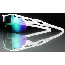 Oakley Radarlock Pitch White W/ Jade Iridium Oo9182-03