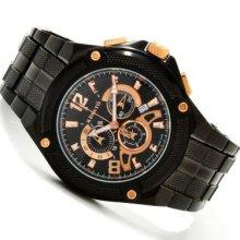 Renato Men's Cougar Collection Swiss Quartz Chronograph Stainless Steel Bracelet Watch