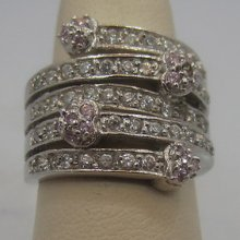 Round Cz Hearts Band 925 Sterling Silver Wedding Anniversary Gift Ring Sz 6