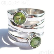 Sterling Silver 925 Green Peridot Gemstone Wedding Band Bands Engagement Rings Ring Jewelry Jewellery SSR-168